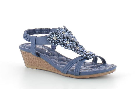 Heavenly Feet Wren Blue Ladies Sandals