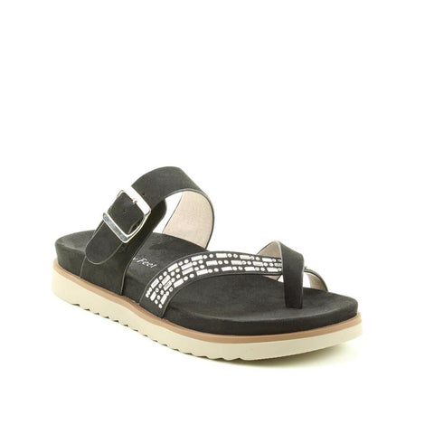 Heavenly Feet Ava BLACK toe loop sandal