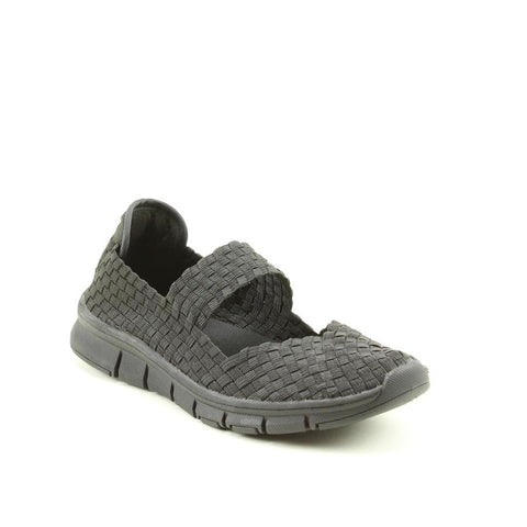 Heavenly Feet Lavender BLACK Ath Leisure comfort shoe