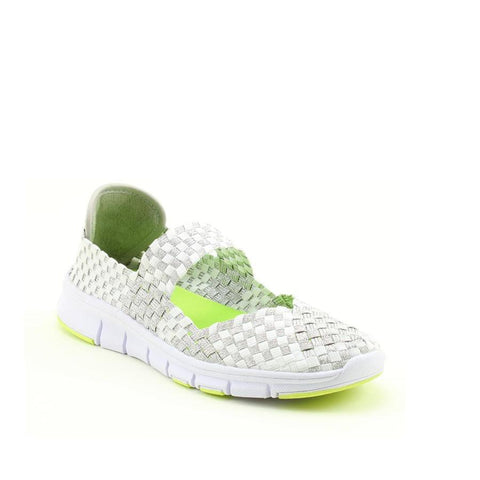 Heavenly Feet Lavender WHITE/SILVER .Ath-leisure comfort shoe