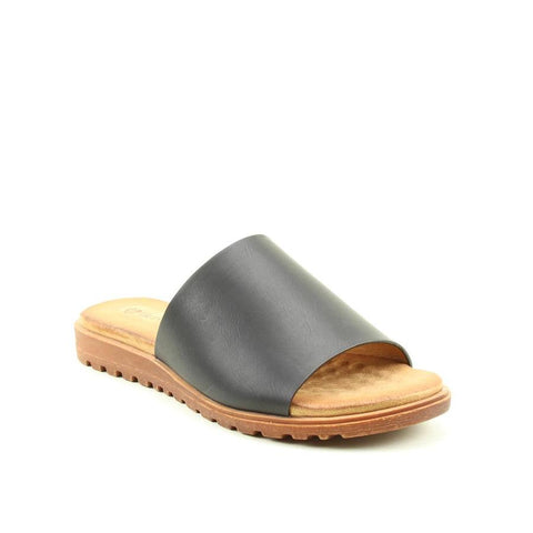 Heavenly Feet Martha BLACK Slider Sandal