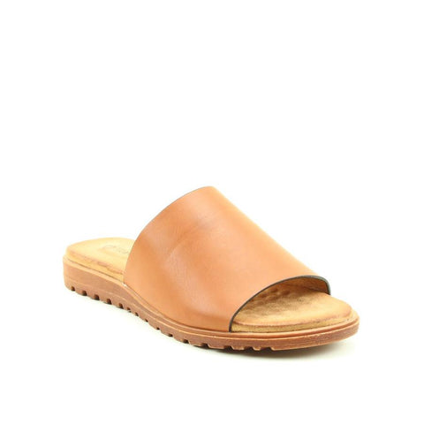 Heavenly Feet Martha TAN Slider Sandal