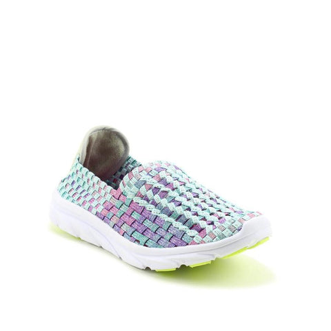 Heavenly Feet Sweet Pea MINT Interlaced Ath Leisure Shoe