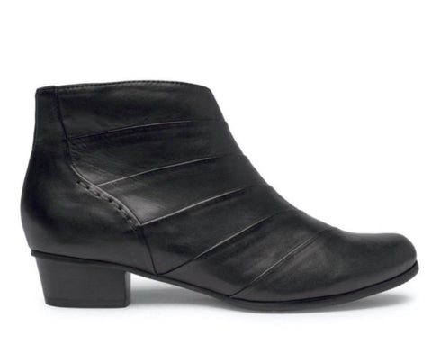Regardez Le Ciel Stefany 293 BLACK Glove Leather Ankle Boot