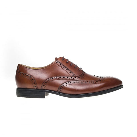 Steptronic Finchley TAN Leather Brogue Shoe