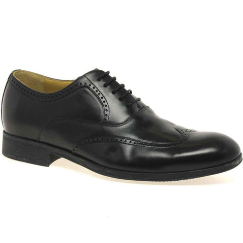 Steptronic Bugatti Black Soft Leather wing cap brogue Lace up Formal shoe