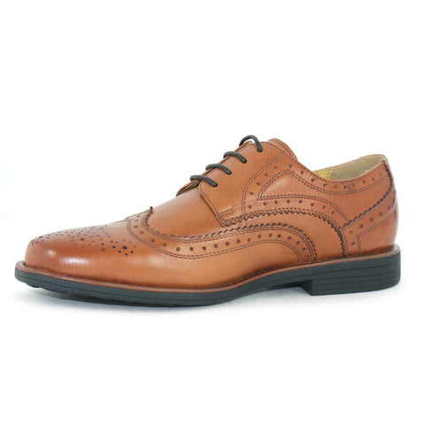 Steptronic Aldershot Tan Mens detailed lace up formal shoe