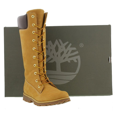 Timberland Calf Boot In Wheat 10 eyelet lace & zip