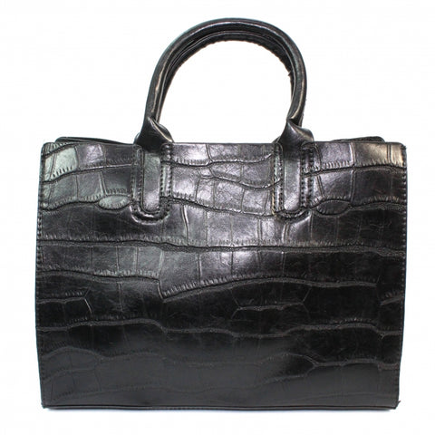 Lunar Townsville Black Croc Two In One Bag Code: ZLK015BK
