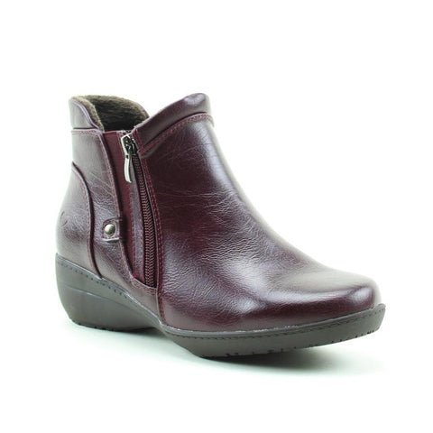 Heavenly Feet Venice BERRY twin zip ankle boot
