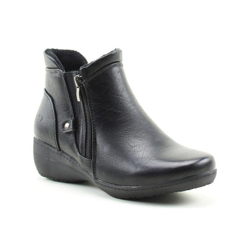 Heavenly Feet Venice BLACK twin zip ankle boot