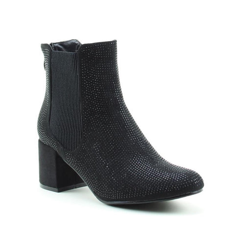 Heavenly Feet Ankle Boot Wave in BLACK DIAMOND