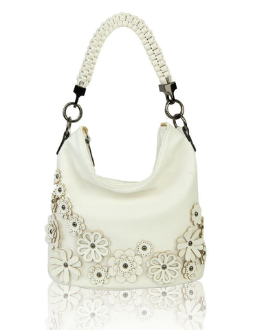 Red Fox Rx171048 WHITE Top handle shoulder bag
