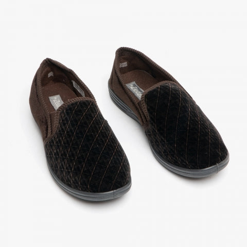 Mens Slipper Kevin in Brown MS466B