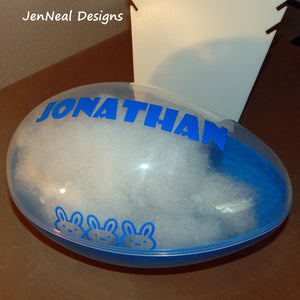 Large Personalized Fillable Easter Egg