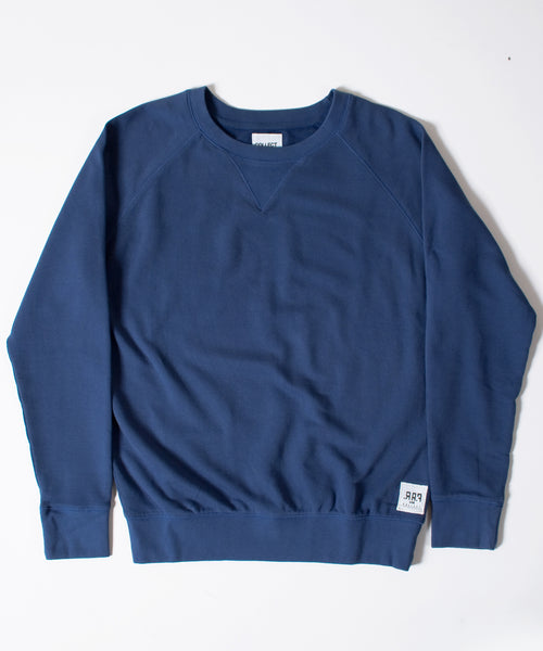 Basics Plain Blue Men's Raglan Sweatshirt