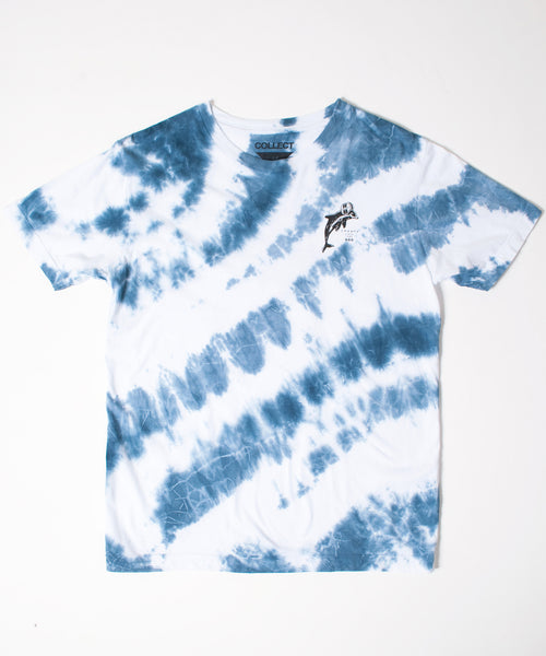 Blue Tie-Dye Winter Sports T-Shirt