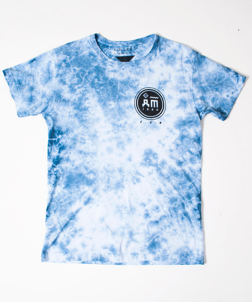 Follow Me Men's Blue Tie-Dye T-Shirt