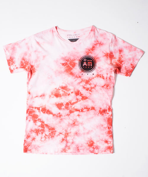 Follow Me Men's Red Tie-Dye T-Shirt