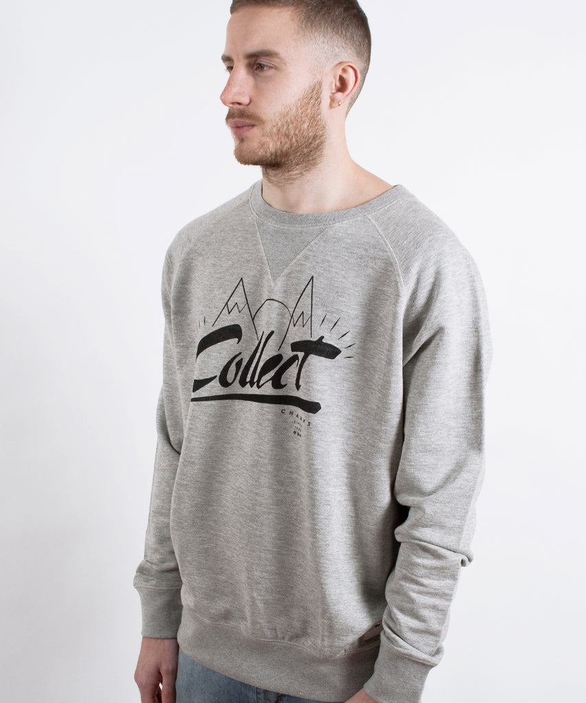 Mountains Sweatshirt Grey