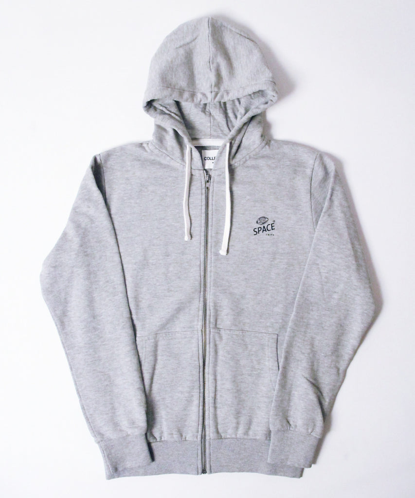 Space Trips Hooded Sweatshirt Grey