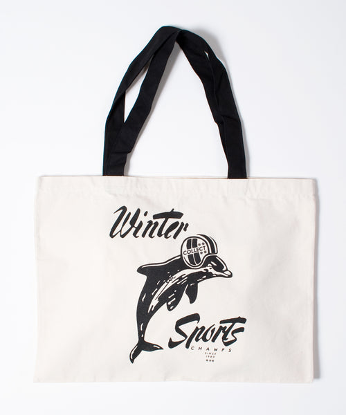 Winter Sports Canvas Tote Bag