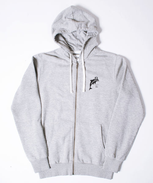 Winter Sports Grey Hooded Sweatshirt