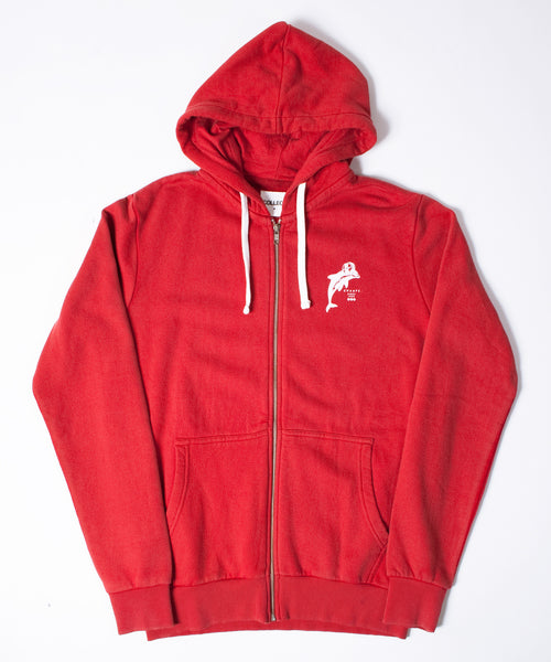 Winter Sports Red Hooded Sweatshirt