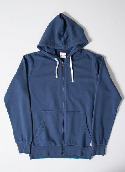 Basics Plain Blue Men's Hooded Sweatshirt