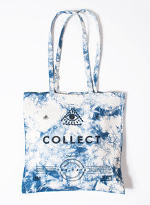 Blue Tie-Dye Far Out Canvas Tote Bag
