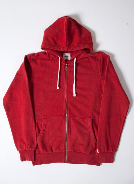 Basics Plain Red Men's Hooded Sweatshirt