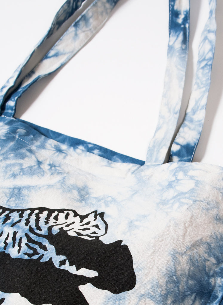 Thrill Blue Tie-Dye Tote Bag