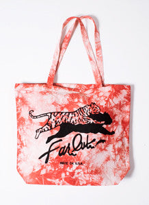 Thrill Red Tie-Dye Tote Bag
