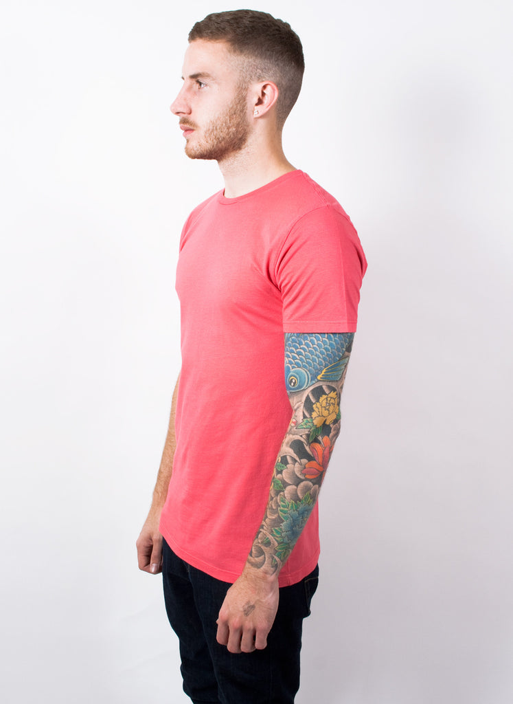 Coral Pink Slim Fit T-Shirt