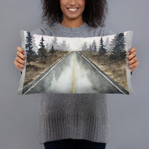 Basic Pillow - Tree-Lined Road (GW)