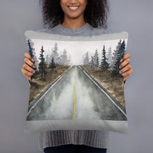 Load image into Gallery viewer, Basic Pillow - Tree-Lined Road (GW)