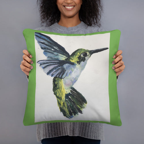 Basic Pillow - Blue Hummingbird (EW)