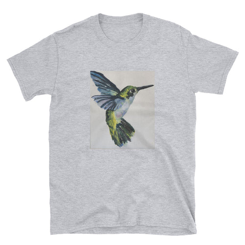 Short-Sleeve Unisex T-Shirt - Blue Hummingbird (EW)
