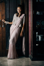 Load image into Gallery viewer, Embroidered Peplum draped saree