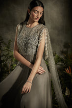 Load image into Gallery viewer, Tasseled Sleeve Pearl Anarkali