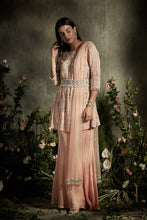 Load image into Gallery viewer, Floral Pearl Anarkali with Belt And Sharara