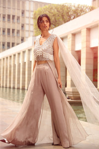 Draped Tasseled Top with Pants