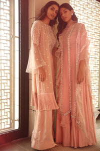 Anarkali Set with Ruffled Dupatta