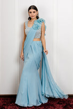 Load image into Gallery viewer, Flower Saree with Tasseled Blouse