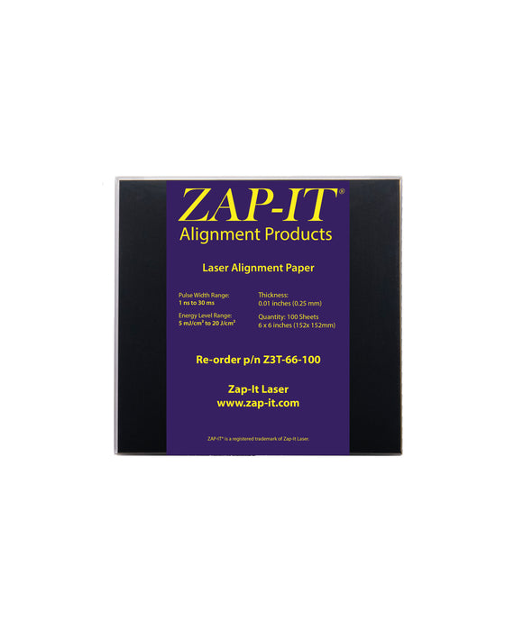 Zap It Laser Alignment Paper And Film Cards Zap It 174 Laser