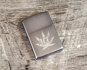 Personalized Engraved Windproof Lighter, Custom Official Brand Refillable Lighter with Your Choice of Text