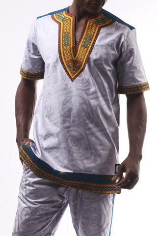 Dashiki Blue/Gold 2016 - African T-Shirt - Men's