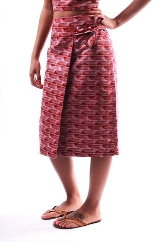 African Wrap Skirt by JEKKAH
