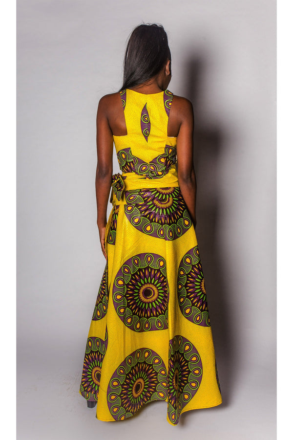 African Print Dress Womens JEKKAH