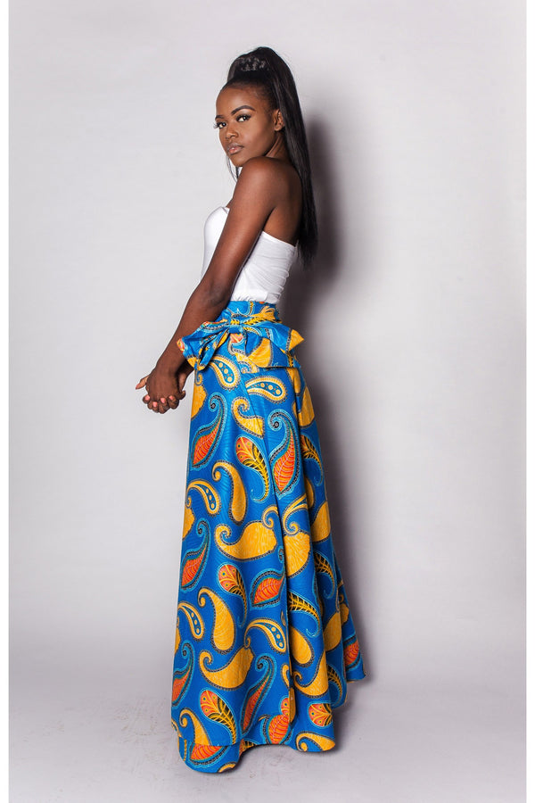 African Wrap Skirt Womens by JEKKAH